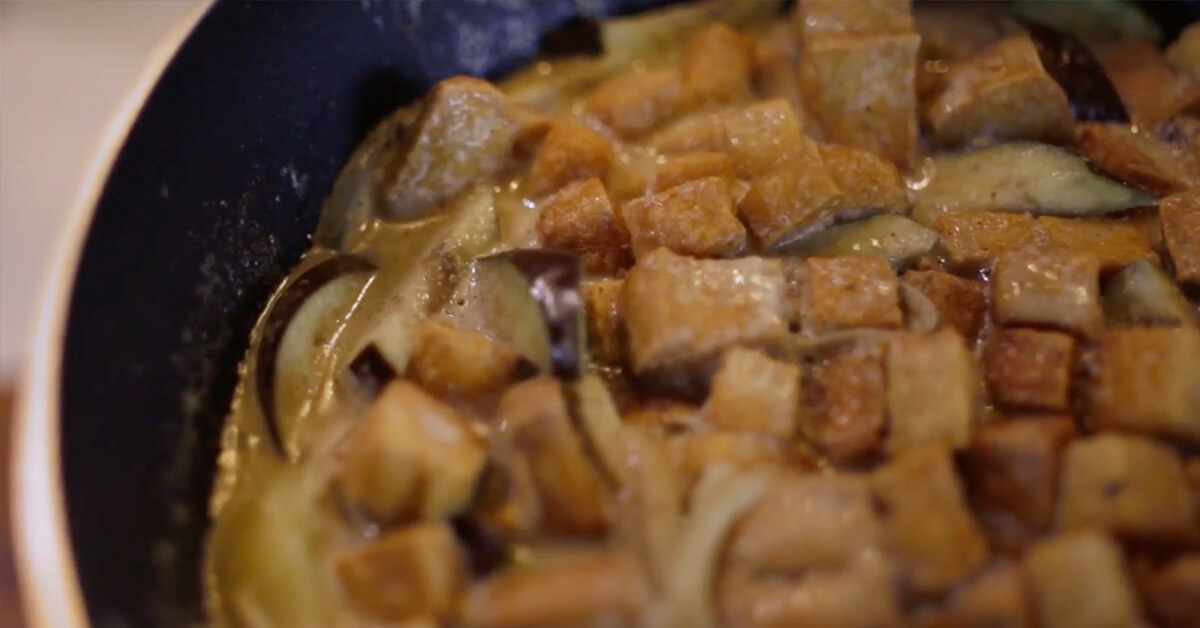 Eggplant Potato and Tofu Curry